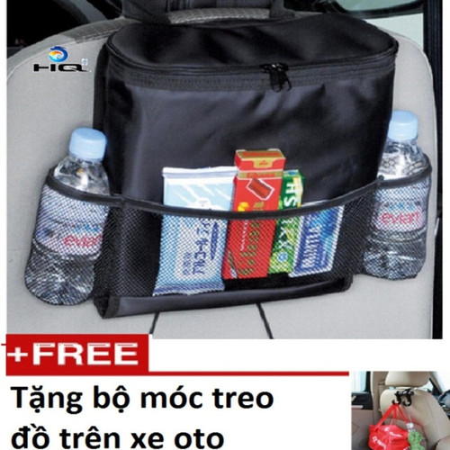 Túi đựng đồ lạnh du lịch trên ôtô tặng  bộ móc treo đồ  hq 206066-081