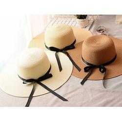 Mũ cói thời trang vành rộng