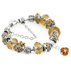 Vòng tay đính đá cực đẹp quyến rũ -màu vàng - VTN010
