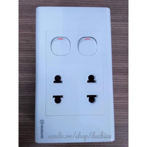 Ổ cắm điện âm tường 2 ổ cắm 2 công tắc Sino - Vanlock - 4331050 , 5947846 , 15_5947846 , 62000 , O-cam-dien-am-tuong-2-o-cam-2-cong-tac-Sino-Vanlock-15_5947846 , sendo.vn , Ổ cắm điện âm tường 2 ổ cắm 2 công tắc Sino - Vanlock