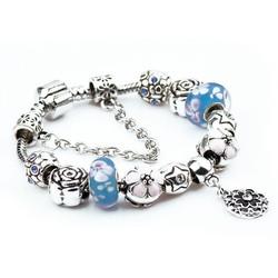 Vòng tay đính đá cực đẹp quyến rũ -màu xanh - VTN002