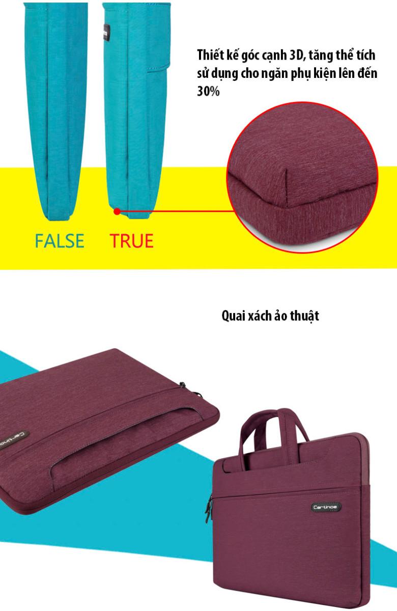 Túi laptop thời trang cao cấp Cartinoe Starry 13.3 inch 12