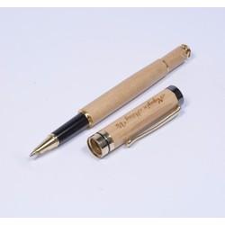 Bút gỗ nắp bật khắc tên