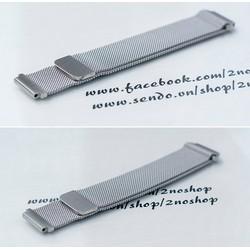 Dây đồng hồ lưới thép Milan khóa nam châm hít 18mm 20mm 22mm MS:D1707
