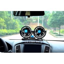 Quạt điện máy đôi mini, thông gió 12V sạc xe ô tô