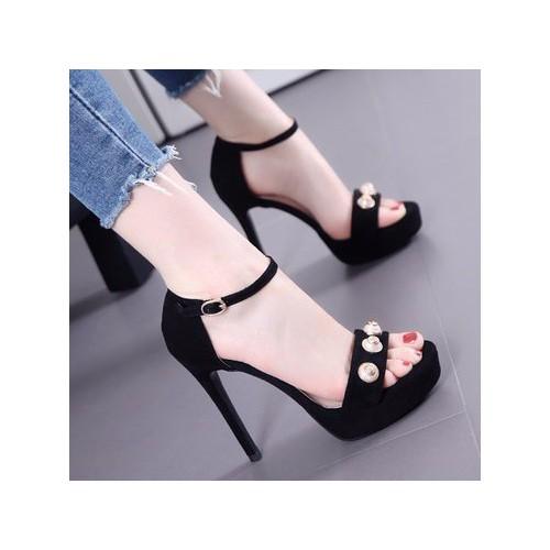 Giày cao gót quai ngang đính ngọc trai - 4336296 , 5967237 , 15_5967237 , 527000 , Giay-cao-got-quai-ngang-dinh-ngoc-trai-15_5967237 , sendo.vn , Giày cao gót quai ngang đính ngọc trai
