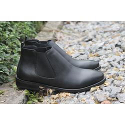 Giày chelsea boot da bò nam cao cấp màu đen MZ087
