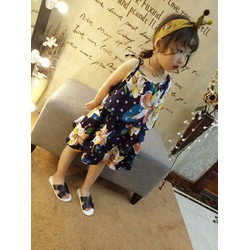 bộ váy áo bé gái sắc hoa 2 đến 7 tuổi