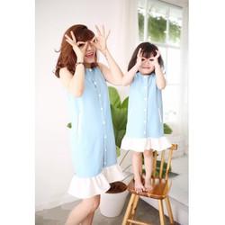 Đầm suông cách điệu dễ thương cho mẹ và bé HGS 993