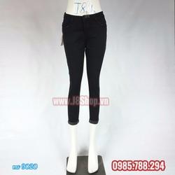 Quần Jean Nữ Lưng Thấp Màu Đen 9 Tấc Size 28 đến size 32 ms 9020