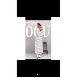 Đầm maxi dài sọc- hàng order