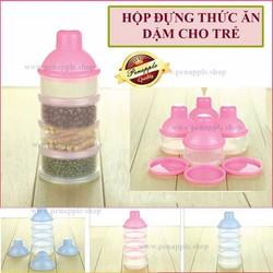 Hộp chia sữa | Hộp chia sữa bột và thức ăn nhẹ cho bé - 4 ngăn
