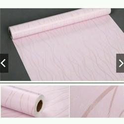 Giấy dán tường sọc vân hồng