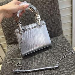 Túi xách nữ màu bạc super