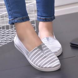 Giày mọi thời trang nữ kẻ sọc - LN1253