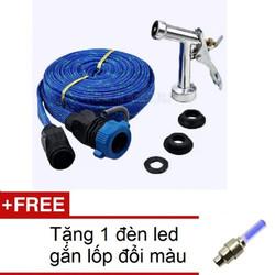 Vòi phun xịt nước rửa xe tưới cây đầu đồng dây 10m HQ TI166-2A Xanh