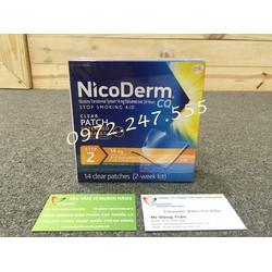 Miếng dán cai thuốc Nicoderm CQ hiệu quả gấp 2 lần