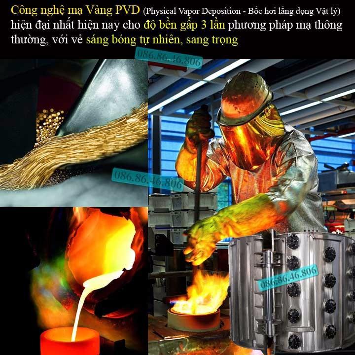 Đồng hồ lộ máy cơ cao cấp mạ PVD vàng kính sapphire chống nước Thụy Sĩ 3