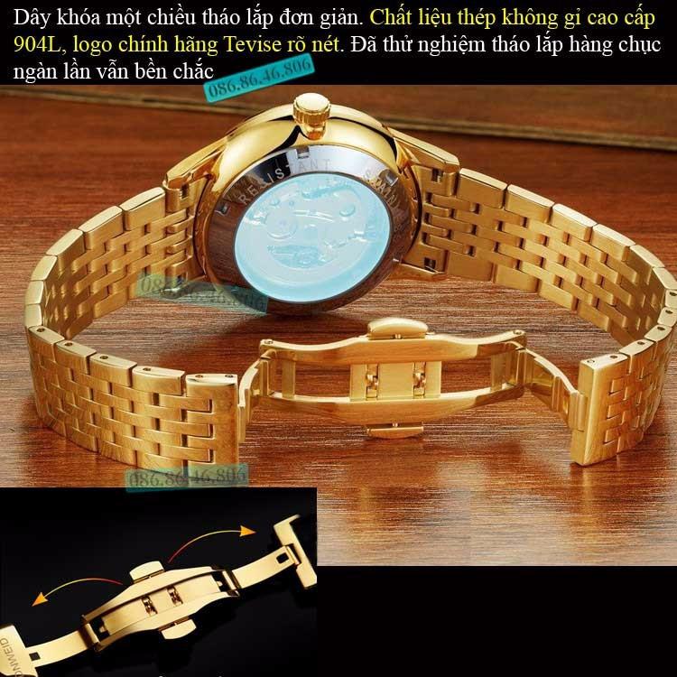 Đồng hồ lộ máy cơ Cao Cấp phiên bản Rồng Vàng 3D kính Sapphire Thụy Sĩ 14