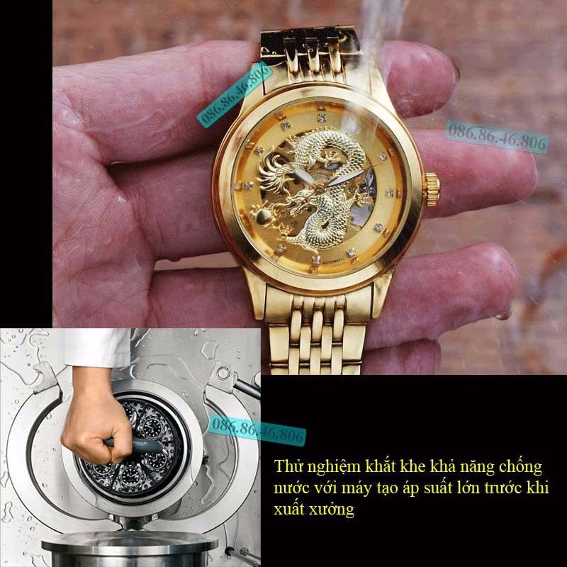 Đồng hồ lộ máy cơ Cao Cấp phiên bản Rồng Vàng 3D kính Sapphire Thụy Sỹ 7