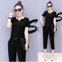 Set áo và quần lửng siêu sang - Phong cách Hàn Quốc S11