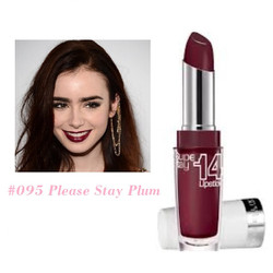 Son lì siêu lâu trôi Superstay 14Hr Lipstick 095 Please Stay Plum