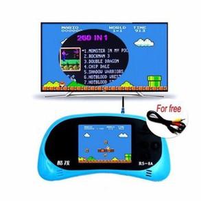 Máy Chơi Game Cầm Tay NINTENDO Rs-8 cài sẵn 260 Trò Chơi NES 1