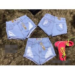 Quần Short Jeans Rách 3 Kiểu Như Hình
