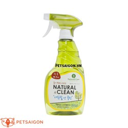 XỊT KHỬ MÙI DIỆT KHUẨN VẬT DỤNG CHO THÚ CƯNG NATURAL CLEAN 500ML