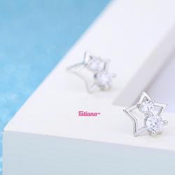 Bông Tai Lucky Star - Tatiana - B2840 Bạc