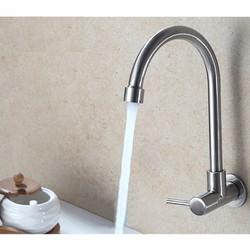 Vòi Rửa Bát Gắn Tường Lạnh Inox304 cao cấp NX506