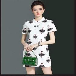 Đầm suông họa tiết cô gái