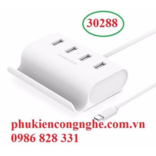 Cáp USB Type C ra 4 cổng USB 2.0 chính hãng UGREEN 30288