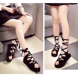 Giày sandal chiến binh bánh mì cột dây
