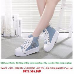 Giày Thể Thao Nữ Tăng Chiều Cao Phong Cách Hàn Quốc