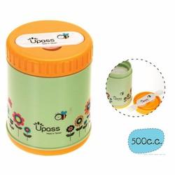 Hộp giữ ấm thức ăn không BPA 500 ml có kèm thìa, dĩa  gấp gọn Upass