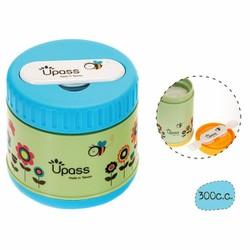 Hộp giữ ấm thức ăn không BPA 300 ml có kèm thìa, dĩa gấp gọn Upass