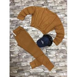 Set bộ thun áo tay dài quần trơn dài ! MS: S300650 Gs: 150K