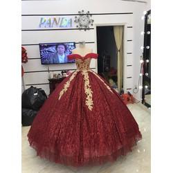 áo cưới đỏ kim tuyến sale gía mềm cho freelancer va studio