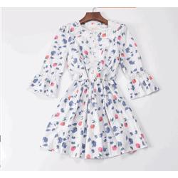 Đầm Voan Hoa Phối Ren - 3321