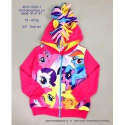 Áo khoác Thái lan họa tiết hoạt hình ngựa Pony có bờm xinh xắn