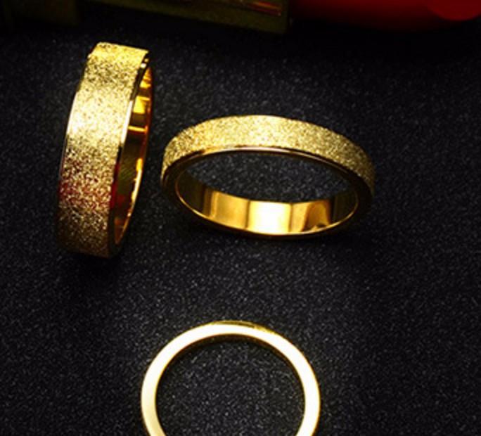 Nhẫn Phun Cát Ti Ttan Không Gỉ TT 0412 - bản nhỏ 4mm 2
