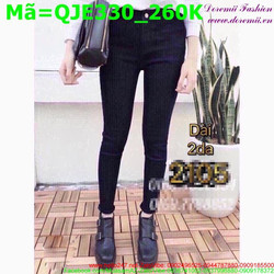 Quần jean đen phong cách đơn giản QJE330