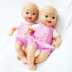 Búp bê Little Mommy 28 cm - Fisher Price  Em bé Tiny Tiger -Pink
