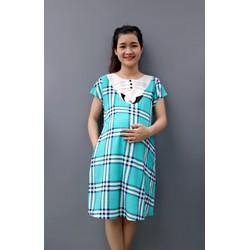 Đầm bầu sọc caro