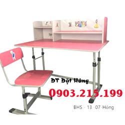 Bộ bàn ghế học sinh BHS-13-0 7  màu hồng chính hãng giá tốt nhất