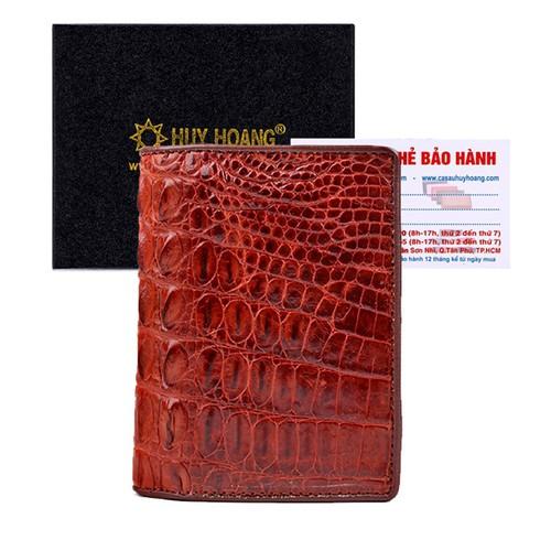 Bóp nam Huy Hoàng da cá sấu kiểu đứng gai lưng màu nâu đỏ - 5042476 , 6286898 , 15_6286898 , 1609000 , Bop-nam-Huy-Hoang-da-ca-sau-kieu-dung-gai-lung-mau-nau-do-15_6286898 , sendo.vn , Bóp nam Huy Hoàng da cá sấu kiểu đứng gai lưng màu nâu đỏ