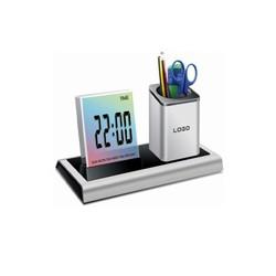 Đồng hồ để bàn điện tử kiêm hộp đựng bút sang trọng