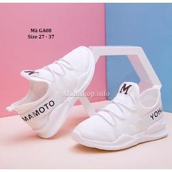 Giày thể thao trẻ em màu trắng thời trang và đẳng cấp GA08