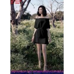 Sét áo kiểu bẹt vai ngang và chân váy thắt nơ xinh đẹp SEV428
